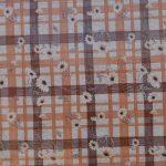 garment check white-brown